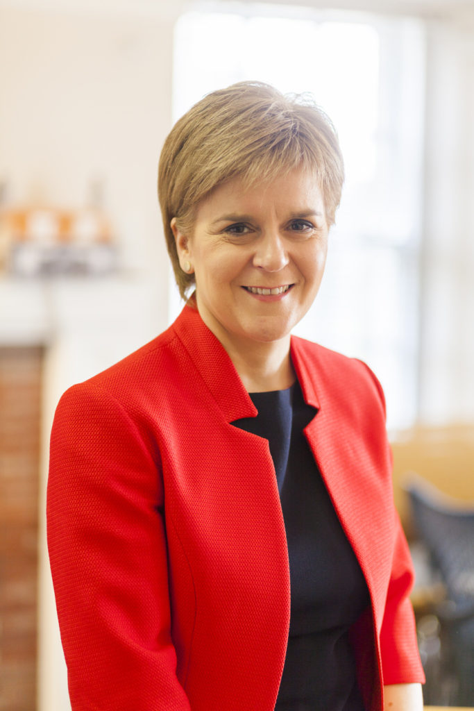 Scottish First Minister Nicola Sturgeon at Andrew Carnegie Birthplace in Dumfermline for Children In Scotland Magazine | more in blog